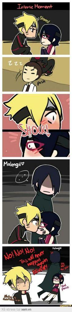 """Sasuke: """"Không, không bao giờ ta lại để điều đó xảy ra đâu!"""" >:("""