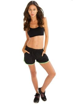 a69a3d0899 Alanic Clothing   Reputed Wholesale Clothing Manufacturer - The edgy Black  Shorts With Neon Green Piping from.
