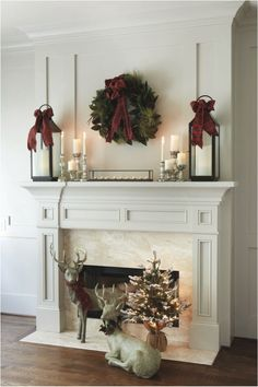 Here are some oh so inspiring ideas for decorating your fireplace mantle this holiday season. Greens, greens and more greens You can't have too many evergreens this holiday season. Fill you mantle and vases with them. Keep everything else neutral and the green will pop! (Dig This Design On Pinterest) Make it simple Sometimes simple... Read More