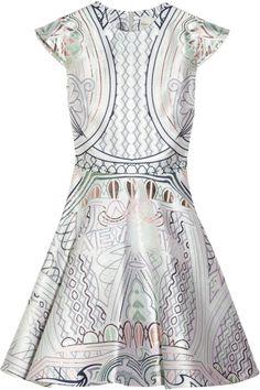 Babelona jacquard a- line dress by Mary Katrantzou Mary Katrantzou, Style Français, Jacquard Dress, Fashion Prints, Fashion Patterns, Dream Dress, Lady, Nice Dresses, What To Wear