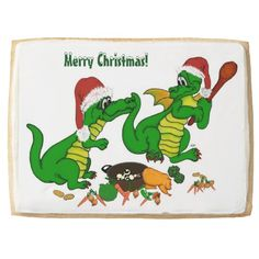 #Christmas #Dragons - today I will cook Jumbo #Cookie #NEW by Krisi ArtKSZP on Zazzle