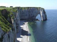 Cliffs at Etretat, #France #Cliffs #beautifulplaces