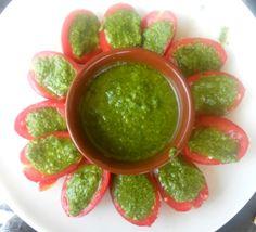 pomodori dell'orto con salsa aromatiche homemade