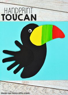 We've been learning about different animals and their habitats this week and are currently onto the rainforest. One of our favorite rainforest animal is the Toucan which is the inspiration for todays craft! This Toucan craft is so fun and simple to make u Rainforest Preschool, Rainforest Crafts, Rainforest Theme, Rainforest Animals, Zoo Animals, Vbs Crafts, Classroom Crafts, Camping Crafts, Easy Diy Crafts