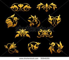 Stock Images similar to ID 161063345 - vector baroque ornament in...