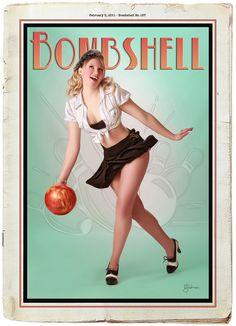 Was Busty girl bowling balls