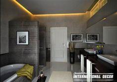 False ceiling designs with backlight for bathroom