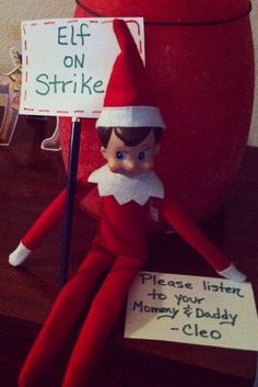 We are getting reports of elves visiting homes across the United States!If your elf has been particularly funny or bad, upload a photo to our Facebook page!