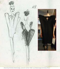 fashion sketch by Cristobal Balenciaga