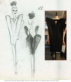 fashion sketch by Cristobal Balenciaga