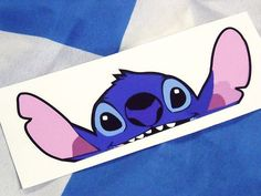 STITCH Lilo & Stitch PEEPER Ratlook car sticker Bombing Decal VW JDM DRIFT Etc