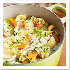 Homemade Chicken Noodle Soup Recipe (How to Make Chicken Noodle Soup) | Country Living.