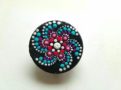 Slate ~ Painted Rock ~ Stone Magnet Clip - Dot Art ~ Gift Ideas ~ Colorful Home Decor Gifts ~ Hand Painted by Miranda Pitrone by P4MirandaPitrone on Etsy