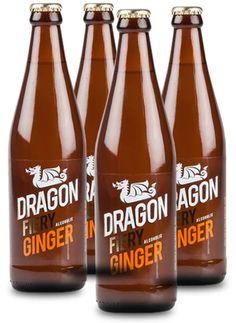 DRAGON FIERY GINGER #CraftBeer #Gingerbeer Corona Beer, Ginger Beer, Craft Beer, Beer Bottle, Liquor, Dragon, Drinks, Crafts, Clock