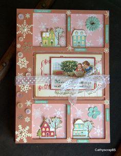 Mini avec des couleurs originales pour un album de Noël et avec quelques images vintage