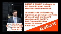 Today's the day corporate employers and Tories celebrate forced work and benefit sanctions - #esday16