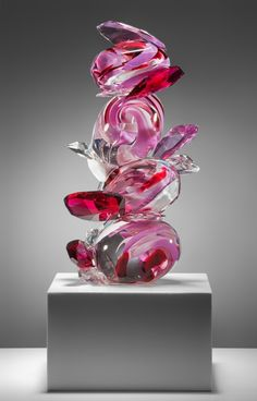 Rock Gem Sculpture, Berry by Abby Modell of New York, N.Y. 2013 NICHE Awards Finalist. Category: Glass, Blown