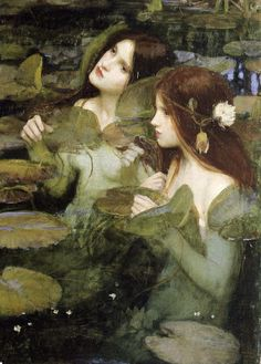 """Hylas and the Water nymphs"" (detail, John William Waterhouse, - Manchester Art Gallery, Manchester John William Waterhouse, Manchester Art, Water Nymphs, Wow Art, Fine Art, Beautiful Paintings, Art History, Fantasy Art, Art Photography"