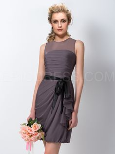 ericdress.com offers high quality  Ericdress Amzaing Sheath/Column Jewel Short Bridesmaid Dress Bridesmaid Dresses 2015 unit price of $ 89.27.