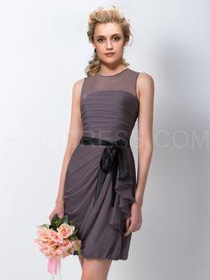 ericdress.com offers high quality  Ericdress Amzaing Sheath/Column Jewel Short Bridesmaid Dress Bridesmaid Dresses 2015 unit price of $ 89.27.