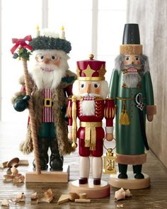 Christmas Nutcracker Figures by ULBRICHT at Horchow.
