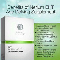 #Nerium #EHT for #Brainhealth  www.Hebe.Nerium.com