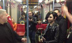 Fahrgäste begeistert: Conchita Wurst fuhr mit Fans in U6 zur Stadthalle | www.heute.at