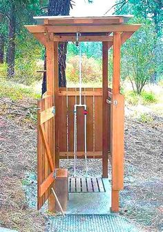 Portable Outdoor Shower Designs portable shower changing tents - www. Outdoor Baths, Outdoor Bathrooms, Outdoor Kitchens, Outside Showers, Outdoor Showers, Portable Outdoor Shower, Solar Shower, Modern Deck, Modern Backyard