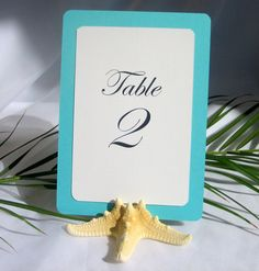 Natural starfish table card holders Set of 10 by Gallery360