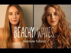 Beachy Waves | Wavy Hair Tutorial - YouTube Wavy Hairstyles Tutorial, Long Hair Extensions, Beachy Waves, Strawberry Blonde, Curls, Curly Hair Styles, Youtube, Youtubers, Youtube Movies