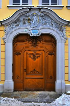 Beautiful wood door. Germany