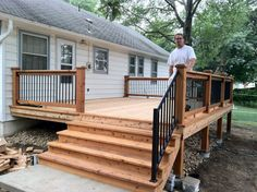 Best Small deck designs ideas that you can make at home! small deck ideas on a budget, small deck ideas decorating, small deck ideas porch design, small deck ideas with stairs Small Deck Designs, Backyard Patio Designs, Small Decks, Small Backyard Decks, Small Small, Small Patio, Backyard Ideas, Small Spaces, Mobile Home Porch