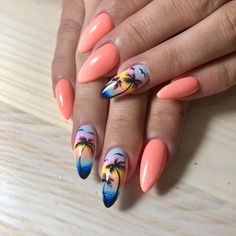58 Hottest Beach Nail Ideas Designs for Summer- 58 Hottest Beach Nail Ideas De. 58 Hottest Beach Nail Ideas Designs for Summer- 58 Hottest Beach Nail Ideas Designs for Summer - nails 2020 Best Acrylic Nails, Summer Acrylic Nails, Almond Acrylic Nails, Nail Summer, Summer Beach, Cruise Nails, Vacation Nails, Beach Nail Art, Beach Nails
