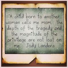 A child born to another woman..