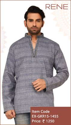 #Exclusive #EthnicWear #Design #Traditional #Trendy #Kurta #Men #Grey #Ootd #Outfit #Fashion #Style #ReneIndia #Brand available on #Flipkart #Snapdeal #paytm