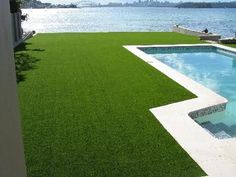 sinthetic grass to edge of pool - Google Search