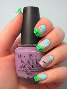 Easter Nail Art Series - Egg Hunt check out www.ThePolishObsessed.com for more nail art ideas.