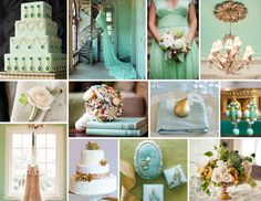 Top Row: Martha Stewart Weddings, Tim Walker Photography, Pam Cooley Photgraphy, Style Me Pretty; Second Row: Elizabeth Anne Designs, Design Me Vintage, Style Me Pretty, Style Me Pretty; Third Row: Kiss the Groom, Nothing Bakes Like a Parrott, Martha Stewart Weddings, Elizabeth Anne Designs