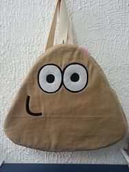 Handmade Pou App Classic Skin Backpack $34.95 http://www.rbitencourtusa.com/#!product/prd1/2649134071/handmade-pou-app-classic-skin-backpack