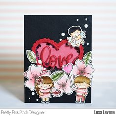 Hi everyone, Lexa here and something exciting is happening today. Pretty Pink Posh is having a Birthday Celebration! Valentine Heart, Valentines, Valentine Cards, Pretty Pink Posh, Interactive Cards, Flower Stamp, Shaker Cards, 4th Birthday, Birthday Celebration