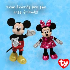 Mickey Mouse Sparkle and Minnie Mouse Sparkle are now available online in the Ty Store!