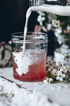 Rhubarb Italian cream soda