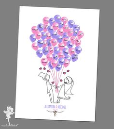 Wedding Tree  - gedruckt auf Papier oder Leinwand  von Feenstaub auf DaWanda.com