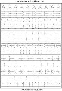 Letter Tracing Worksheets For Kindergarten – Capital Letters – Alphabet Tracing – 26 Worksheets / FREE Printable Worksheets Letter Tracing Worksheets, First Grade Worksheets, Alphabet Tracing, Handwriting Worksheets, Free Printable Worksheets, Kindergarten Worksheets, In Kindergarten, Alphabet Writing Practice, Writing Practice Worksheets