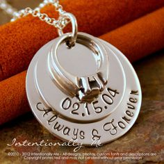 Hand Stamped Anniversary Necklace Personalized by IntentionallyMe