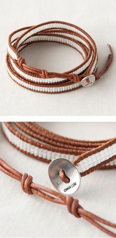 CHAN LUU beads wrap bracelet