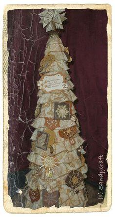 Adventkalender-Baum Advent, Mixed Media, Tower, Christmas, Crafts, Calendar, Trees, Weihnachten, Creative