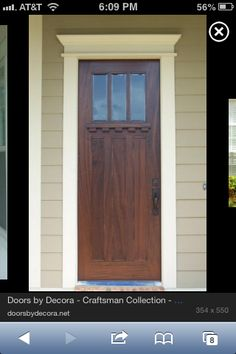 This door would match our windows! & Craftsman door...I love the ledge that allows someone to leave a ...