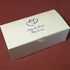 Gift Boxes 102380: Personalized Wedding Favor Candy Treat Gift Box 6X3x2 White -> BUY IT NOW ONLY: $36.6 on eBay!