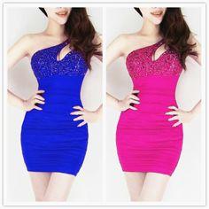 Fantastic Blue Silk Sheath Mini Sexy Style Day To Night Dress